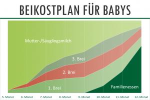 Beikostplan für Babys als Diagramm