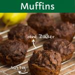 Schoko-Birne Muffins ohne Zucker für Babys und Kinder, auf Kuchengitter
