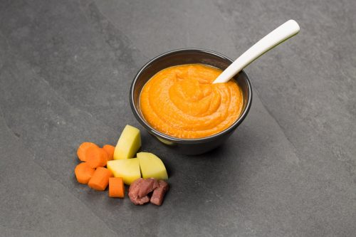 Babys erster Brei - Grundrezept Mittagsbrei mit Gemüse, Kartoffel und Fleisch